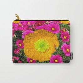 FUCHSIA GOLDEN YELLOW POPPY FLOWERS GARDEN Carry-All Pouch