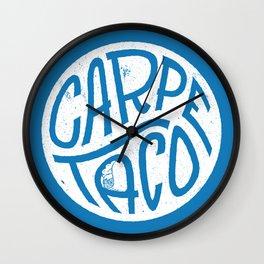 Carpe Taco Wall Clock