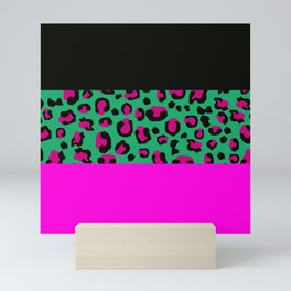 Urban Jungle - Leopard Pattern Pink Mini Art Print