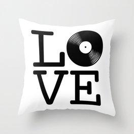 DISC LOVE Throw Pillow