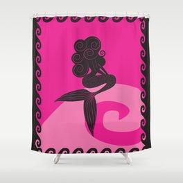 Pink Mermaid Shower Curtain