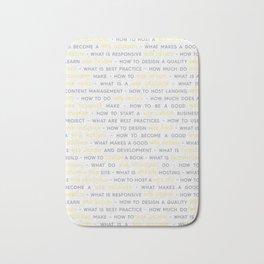 Yellow Web Design Keywords Poster Bath Mat