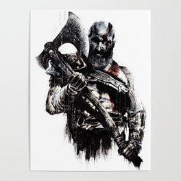 Kratos the god of war Poster