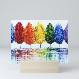 Rainbow Trees Mini Art Print