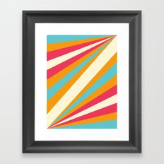Diagulous Series: Sunnyside Framed Art Print