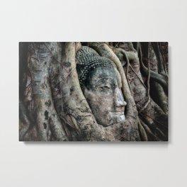 Banyan Tree Buddha Metal Print