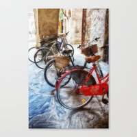 bicycles Canvas Prints featuring Bicycles by Elliott's Location Photography
