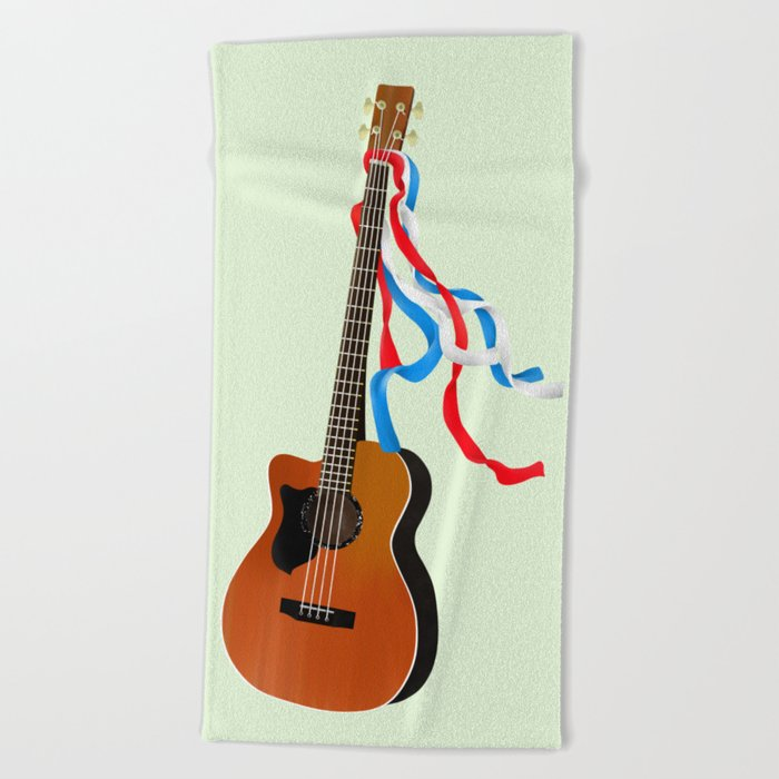 Acoustic Bass Beach Towel