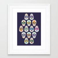 dia de los muertos Framed Art Prints featuring Dia de los muertos by ewdondoxja