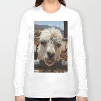 lama Long Sleeve T-shirts featuring Lama  by Ricarda Balistreri