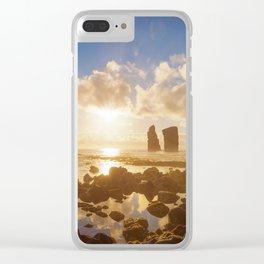 Mosteiros beach Clear iPhone Case