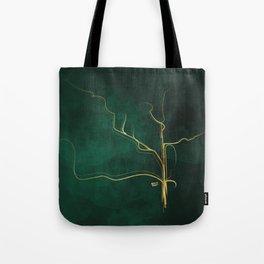 Kintsugi Emerald #green #gold #kintsugi #japan #marble #watercolor #abstract Tote Bag