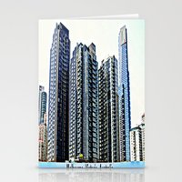 melbourne Stationery Cards featuring Melbourne CBD by Chris' Landscape Images & Designs