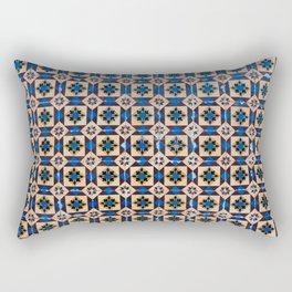 Lisbon tiles - decoratives in brown and blue Rectangular Pillow