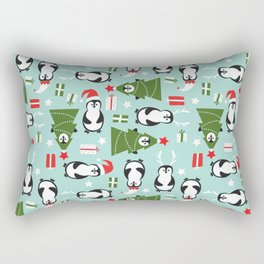 Penguin Party Pattern Rectangular Pillow