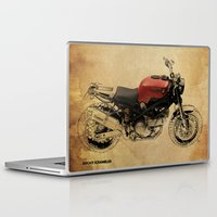 ducati Laptop & iPad Skins featuring Ducati Scrambler by Larsson Stevensem