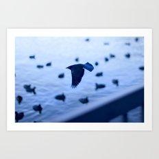 Black and blue Art Print