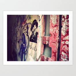 Graffitied Gateway Art Print