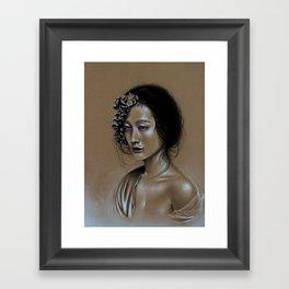 Sitting in the Fire Framed Art Print