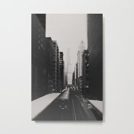 "Chicago South Loop ""L train"" photograph Metal Print"
