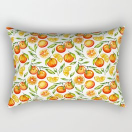 orange pattern tangerine citrus print Rectangular Pillow