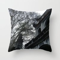 vietnam Throw Pillows featuring Vietnam by Lili Lash-Rosenberg
