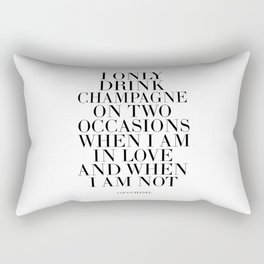 Quote,Inspirational Quote,Motivational Poster,Champagne Sign,Fashion Quote,Fashionista,Office Rectangular Pillow