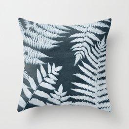 Sun Print Fern #1 Throw Pillow
