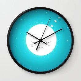 Sweet moon Wall Clock