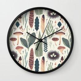 Forest Fall Pattern Wall Clock