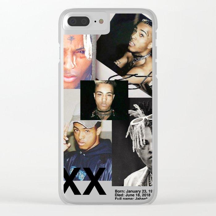 size 40 6bd87 081c7 xxxtentacion tribute rip shirt / gear Clear iPhone Case by robtaf
