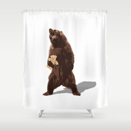 grizzlies need hugs too Shower Curtain