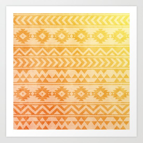 Aztec Pattern 08 Art Print