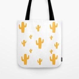 Mustard Cactus Pattern Tote Bag
