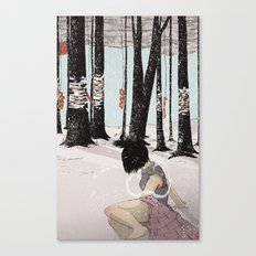 With My Hands In Sand Canvas Print