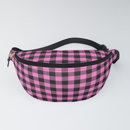 Classic Pink Country Cottage Summer Buffalo Plaid Fanny Pack