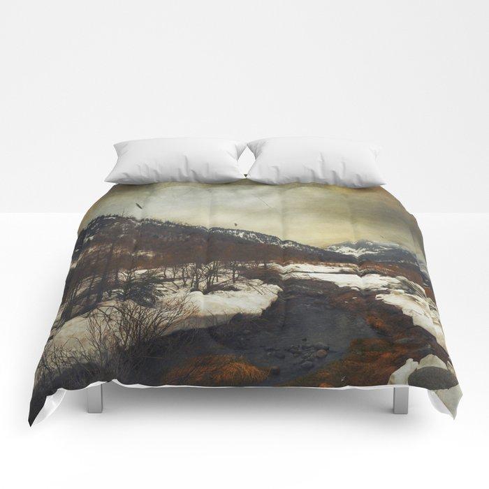 Wild Winter Valley Comforters