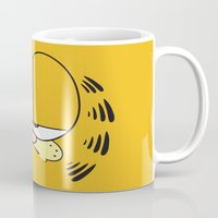 garfield Mugs featuring Garfield Face by julien tremeau