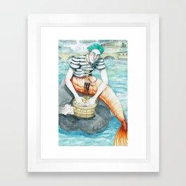 Parisian Merman Framed Art Print
