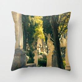 Cemiterio dos Prazeres Angel, Lisbon, Portugal Throw Pillow