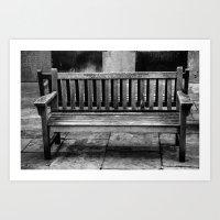 only a bench Art Print
