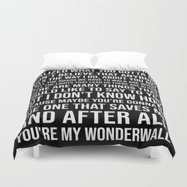 Wonderwall Oasis Inspired Song Lyric Print Bettbezug