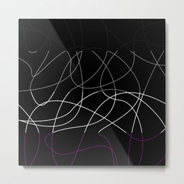 Abstract Threads – Asexual Pride Flag Metal Print