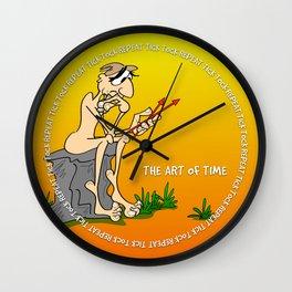 The Thinker clock in yellow Wall Clock