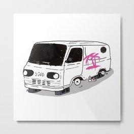 Sick Ass Busted Van Metal Print
