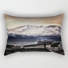 Arran in the snow Rectangular Pillow