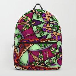 Garden Leaves Mandala Backpack