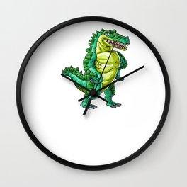 Crocodile Brother Alligator Reptile Animal Wall Clock