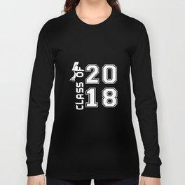 Class Of 2018 With Tassel Senior T-Shirts Long Sleeve T-shirt