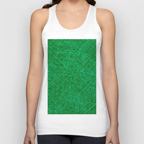 Scratched Green Unisex Tank Top